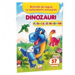 Dinozauri - Formeaza imaginea + 57 autocolante