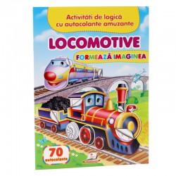 Locomotive - Formeaza imaginea + 70 autocolante