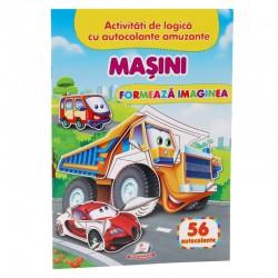 Masini - Formeaza imaginea + 56 autocolante