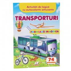 Transporturi - Formeaza imaginea + 74 autocolante