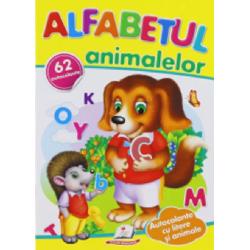 Alfabetul animalelor + 62 autocolante