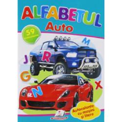 Alfabetul auto + 59 autocolante