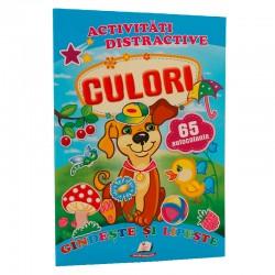 Culori  + 65 autocolante - Gandeste si lipeste
