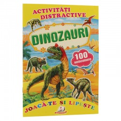Dinozauri + 100 autocolante – Joaca-te si lipeste