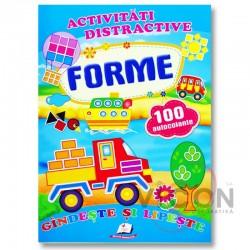 Forme + 100 autocolante - Gandeste si lipeste
