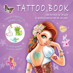 Cartea mea cu tatuaje si modele fantastice de colorat - Tatoo Book