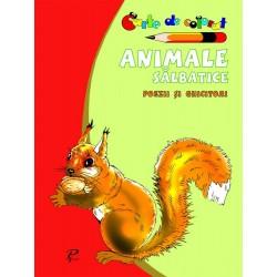 Animale salbatice. Poezii si ghicitori - Carte de colorat