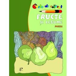 Fructe si legume. Poezii - Carte de colorat
