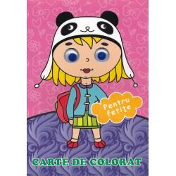 Pentru fetite (cu ochisori) - Carte de colorat