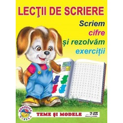 Scriem cifre si rezolvam exercitii - Lectii de scriere