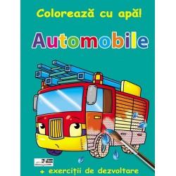 Automobile - Coloreaza cu apa! + Exercitii de dezvoltare
