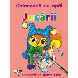 Jucarii - Coloreaza cu apa! + Exercitii de dezvoltare