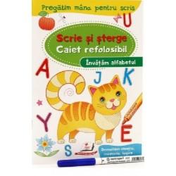 Invatam alfabetul - Scrie si sterge