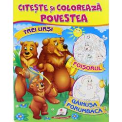 Trei ursi - Foisorul - Gainusa porumbaca - Citeste si coloreaza povestea